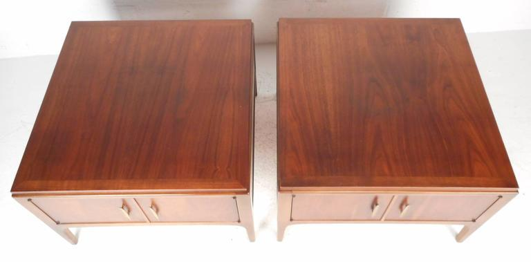 Captivating Lane Furniture Mid Century Low End Tables   A Pair   Image 2 Of 8