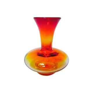 Vintage Amberina Blenko Vase