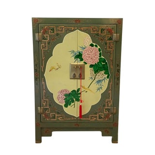 Chinoiserie Green Lacquered Cabinet