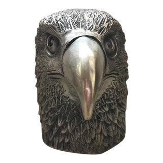 Silver Eagle Head Statue