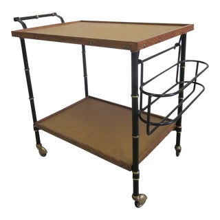 Rare French 1940s-1950s Bar Cart by Jacques Adnet