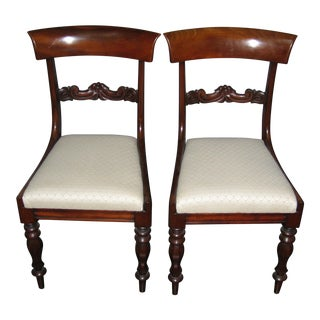 Regency Mahogany Side Chairs - A Pair