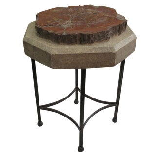 Circa 1880 Petrified Wood Side Table