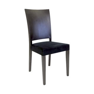 Black Upholstered Contemporary Dining Chair