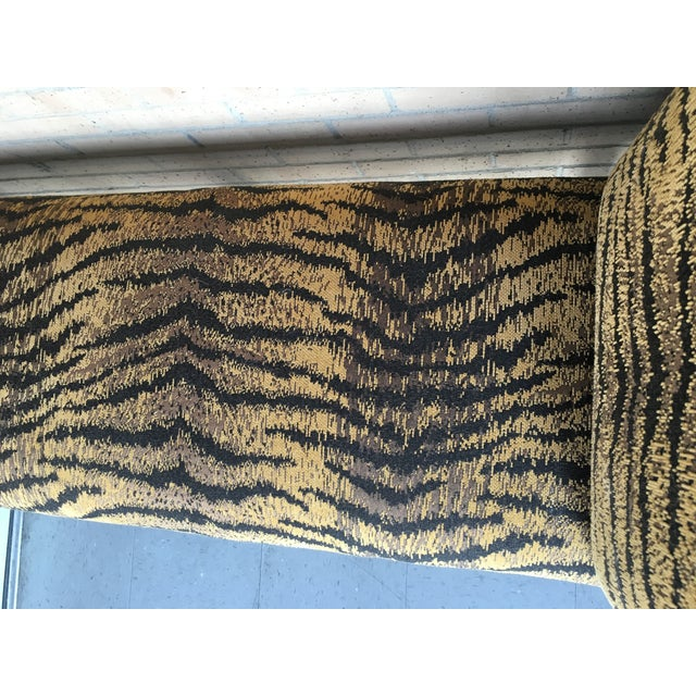 Image of Chenille Tiger Print End-of-Bed Bench Barley-Twist