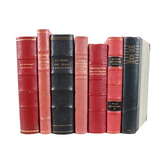 Designer Leather Books - Set of 7