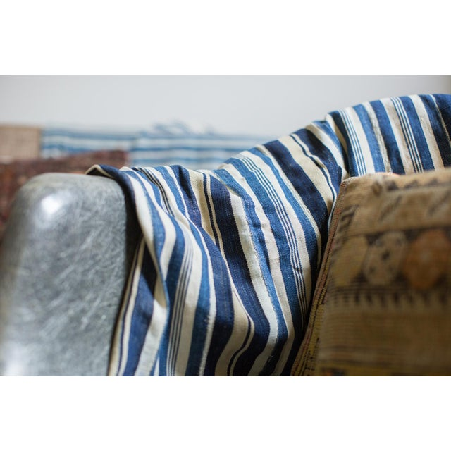 Image of Vintage Indigo Stripe Throw