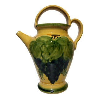 Handmade Provence Grape Pattern Pitcher Gargoulette