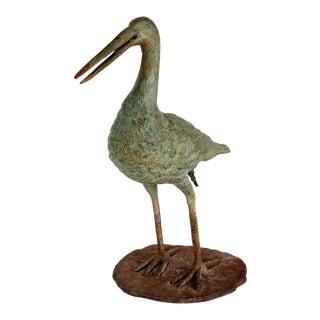Bronze Bird Sculpture Garden Fountain