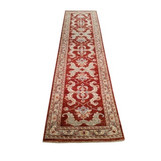 Traditional Hand Made Knotted Rug - 2′7″ × 10′
