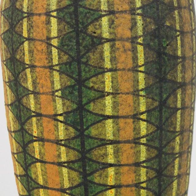 Image of Mid-Century Modern Bitossi Pottery Teak Lamp