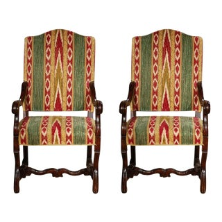 Pair of 18th Century Walnut Armchairs