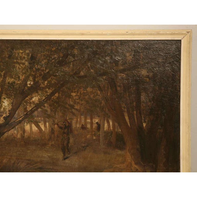 """Amazing 9'8"""" Original Antique French Panoramic Oil Painting on Linen - Image 8 of 10"""