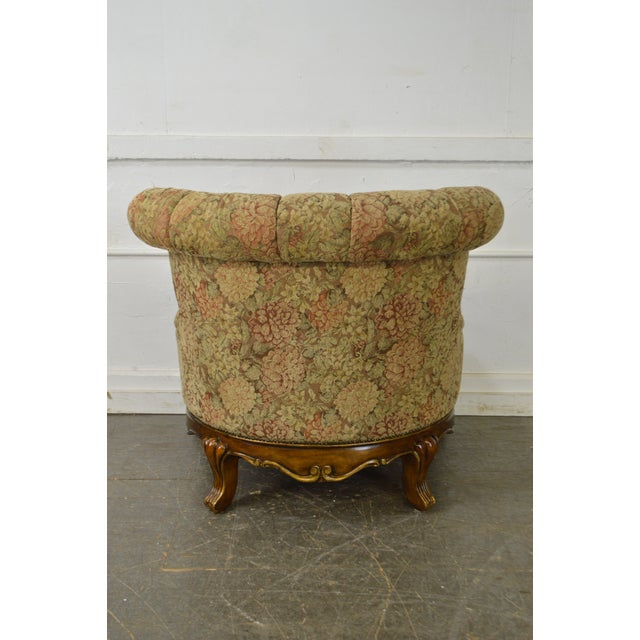 Schnadig Compositions French Louis XV Style Tufted Bergere Lounge Chair - Image 4 of 10