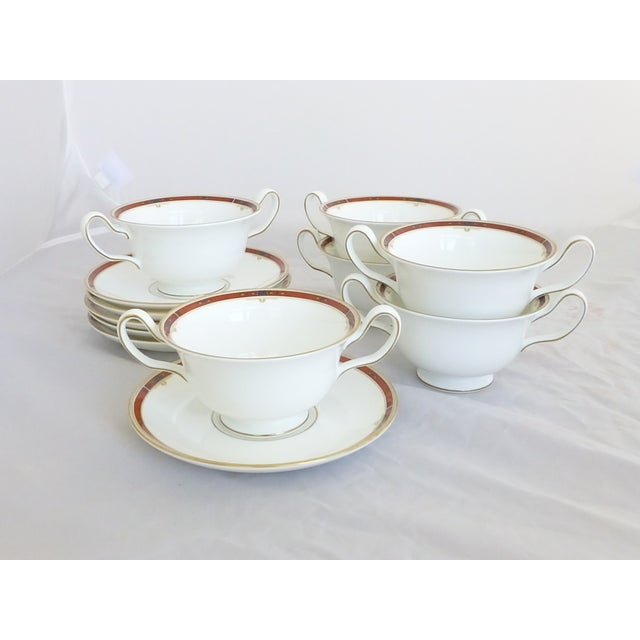 "Wedgwood ""Colorado Gold"" Cream Soup & Saucers Set - Image 2 of 7"