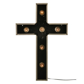 Stainless Steel Lighted Church Cross Sign