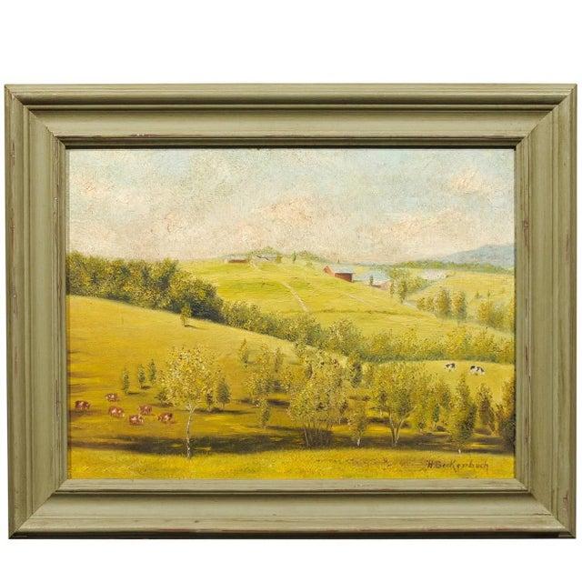 Provençal Pastoral Oil Painting - Image 1 of 7