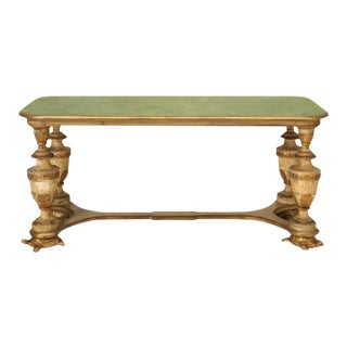 Green Italian Library Table