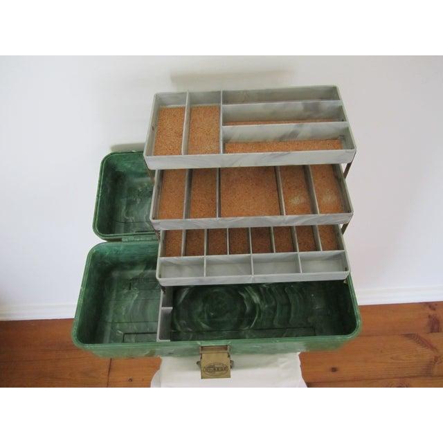 Green Marbleized Malachite Style Storage Box - Image 6 of 8