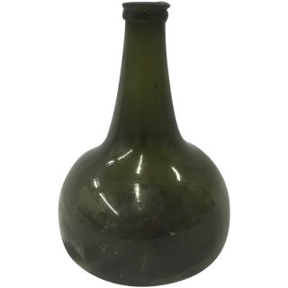 Early 1700s Deep Green Dutch Onion Bottle