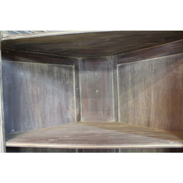 Image of Country French Distressed Corner Cabinet