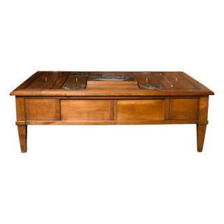 Mid-Century French Coffee Table W/ Chess Board