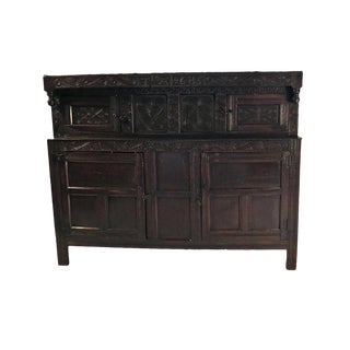 English Oak Court Cupboard