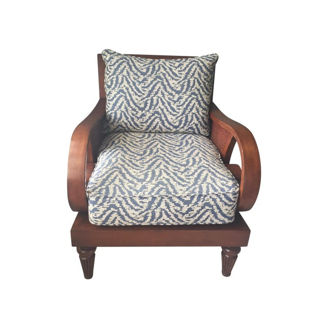Curved Arm Cherry Chair - Image 1 of 3