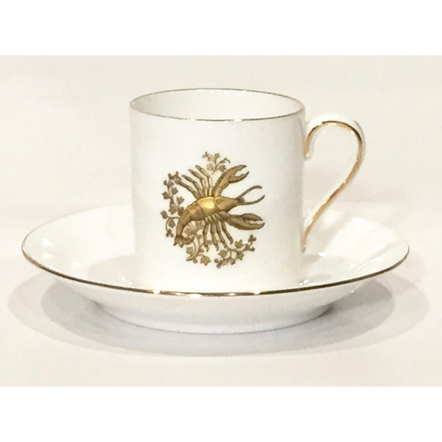 Image of Tuscan English China Gold Lobster Demitasse Cup & Saucer