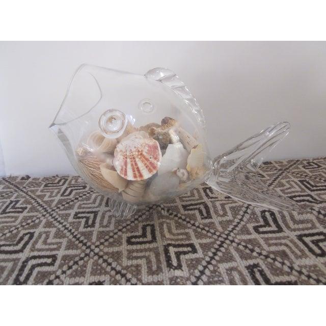 Blenko Glass Fish Planter Terrarium - Image 3 of 9