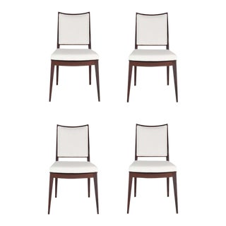 Set of 4 Frame Back Dining Chairs