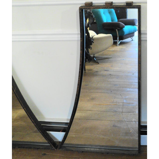Antique Vintage Industrial Wood Factory Mold Mirrors - A Pair - Image 4 of 11