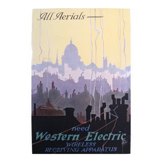 1920s Vintage American Mini Poster, Western Electric