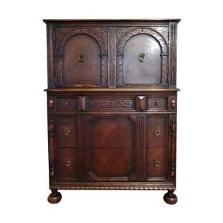 Antique Oak Tallboy Dresser