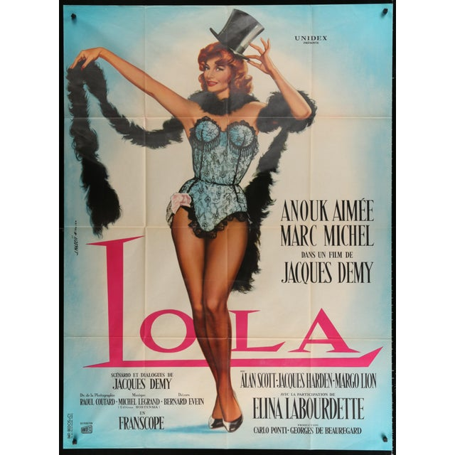 "French 1961 Jacques Demy's ""Lola"" Poster - Image 2 of 2"