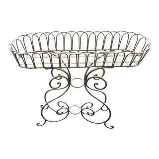 Antique Wrought Iron Plant Stand