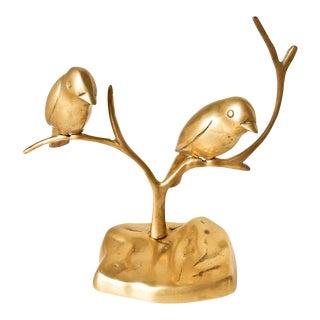 Brass Birds on Branch Statue