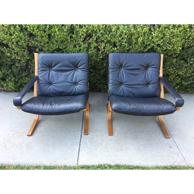 Vintage Westnofa Safari Leather Loveseat - Image 2 of 7