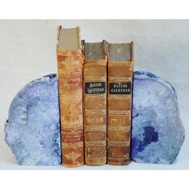 Violet Crystal Rock Geode Bookends - Image 3 of 7