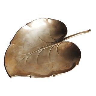 Vintage Brass Leaf Tray Catchall
