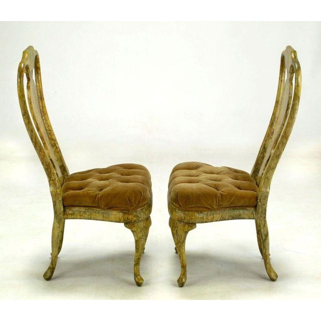 Four Phyllis Morris Oil-Drop Lacquered Queen Anne Chairs - Image 6 of 9