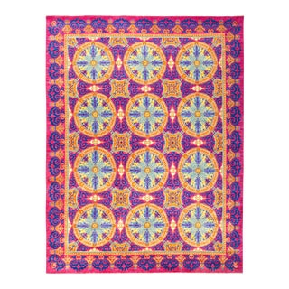 """Suzani Hand Knotted Area Rug - 9' 0"""" X 11' 9"""""""