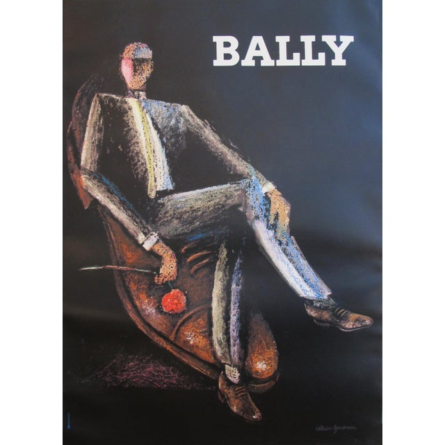 1970s Vintage French Mens Fashion Poster, Bally Shoes - Image 2 of 5