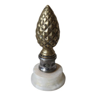 Bronze & Silver-Plate Finial
