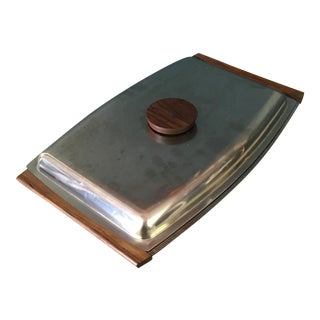Mid-Century Danish Stainless Steel Serving Tray