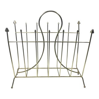 Retro Brass Plate Magazine Rack