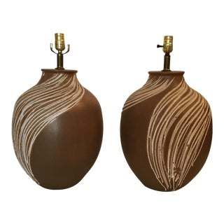 Mid-Century Ceramic Table Lamps - Pair