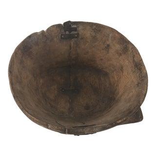 Antique Rustic Wooden Bowl