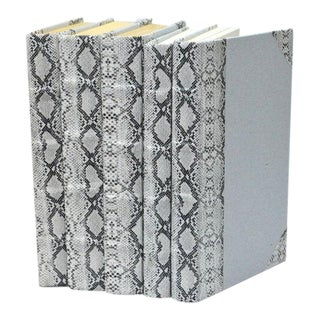 Exotic Collection Python White Books - Set of 5