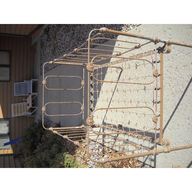 1800s Metal Crib - Image 3 of 8